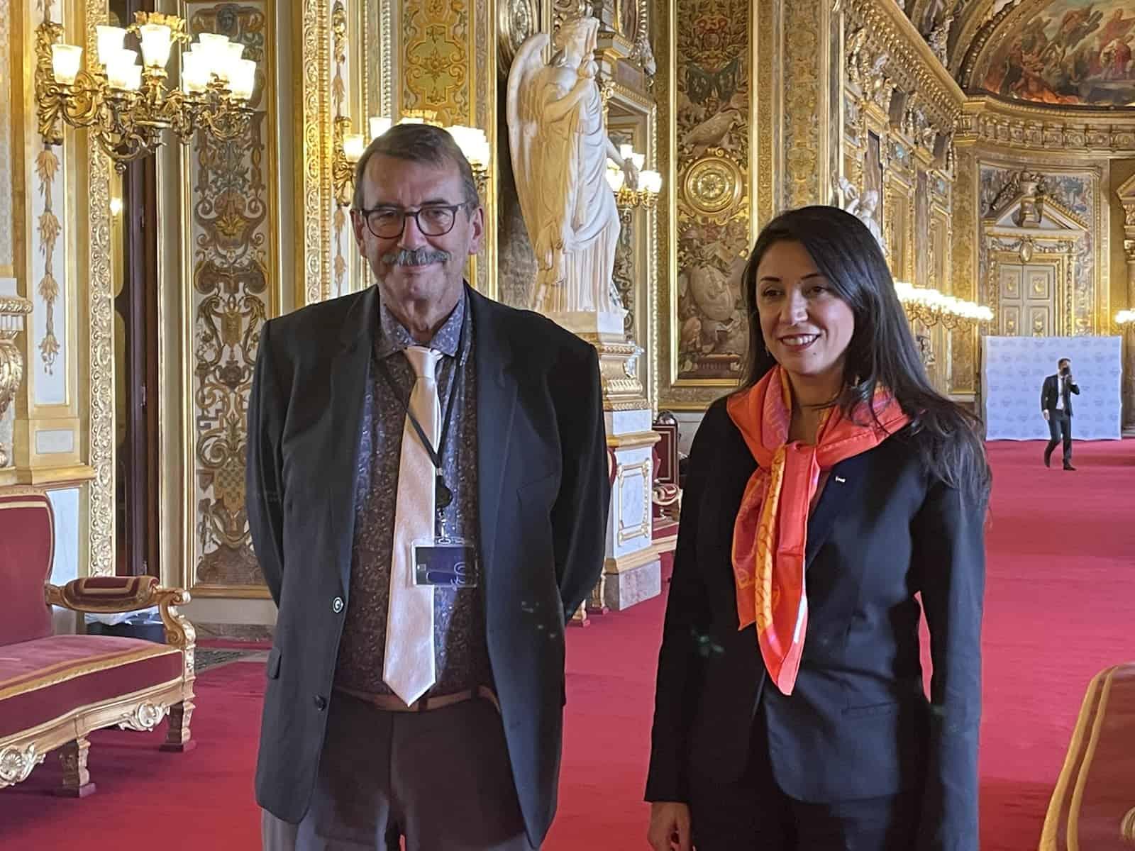 avec-mme-Abou-Hassira-ambassadrice-de-Palestine